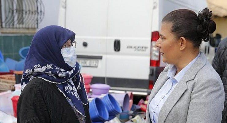 Başkan Çerçioğlu Pazarda Vatandaşlarla Buluştu